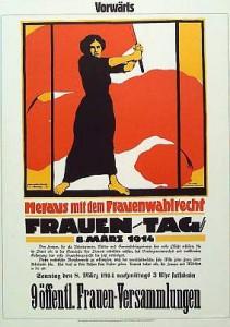 Ausstellung Frauenwahlrecht Plakat Frauenbewegung 1914